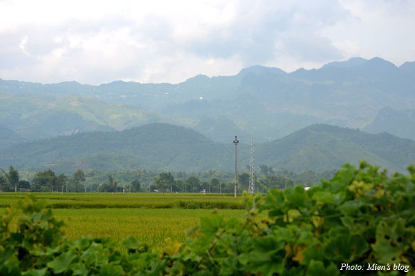 View of the scenic countryside in Yen Bai province