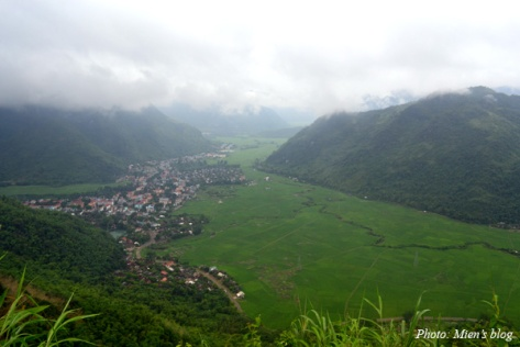 View of a valley on the way from Mai Chau back to Hanoi