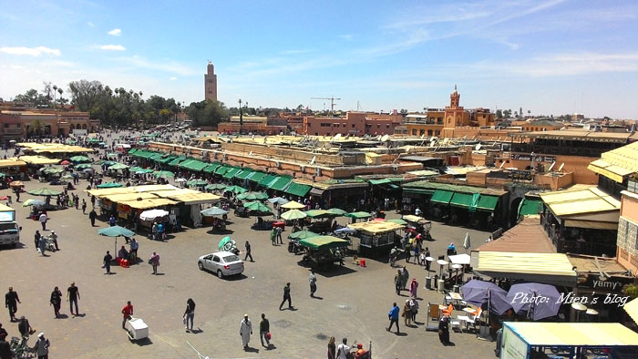 A view to Jemaa El Fna, Marrakech, Morocco