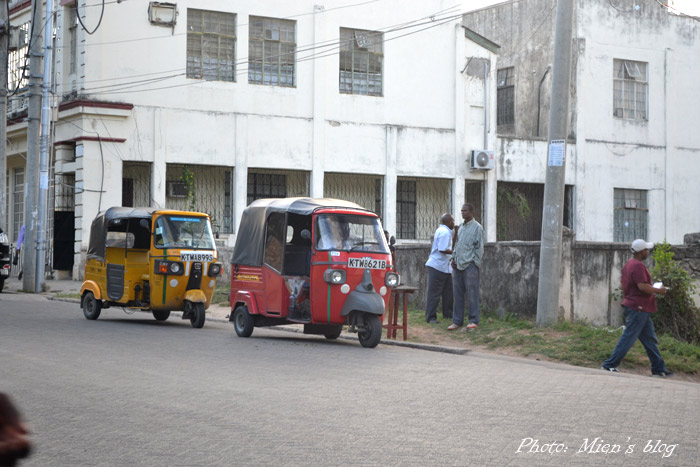 Indian Auto Rickshaws are very popular in Mombasa